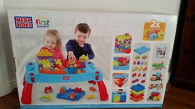 Fisher Price Mega Bloks First Builders Build n Learn Table In excellent cond