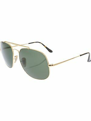 Ray-Ban General RB3561-001-57 Gold Oval Sunglasses