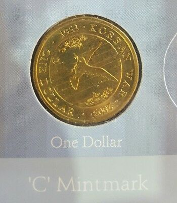2003 50th Anniversary of the End of the Korean War - $1 Dollar Coin 'C' Mintmark