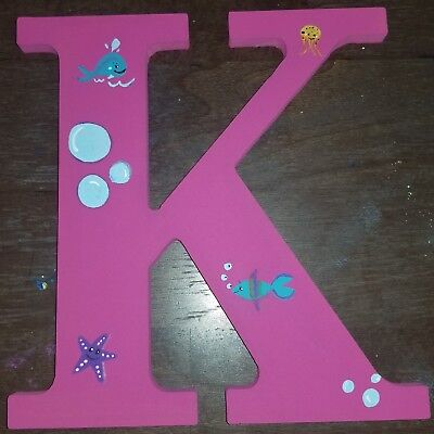 Wooden Letter/Names/under the sea, any letter or color or theme, kids, baby