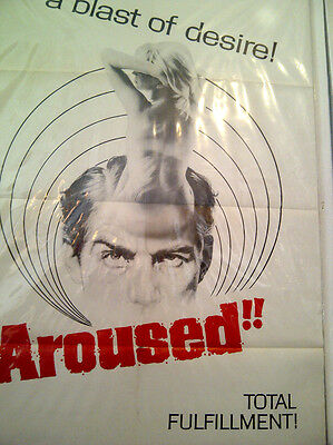 "Aroused, original poster, 1966, ""psycho killer on a sex rampage"" NOT A REPRO"