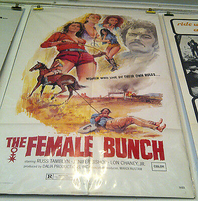 THE FEMALE BUNCH, 1969 USA SEX MOVIE POSTER (Lon Chaney Jr) Spahn Ranch
