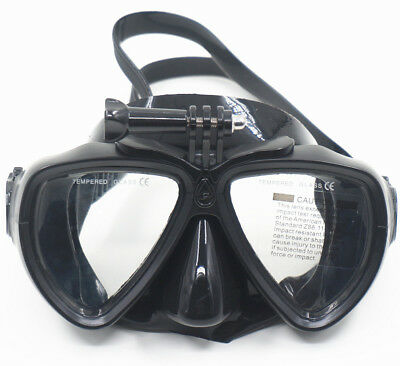 Scuba, Spearfishing and Freedive Low Volume Silicone Go Pro Dive Mask Goggles