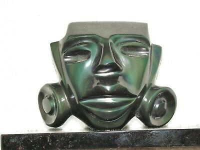 Mask Obsidian Stone  New. With The Artificial Ligth You Can See Green Color.