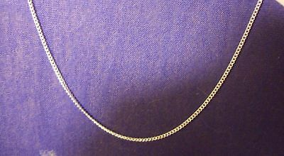 "Beautiful, 925 Sterling Silver 1.5mm Curb Chain Necklace 26""  long."