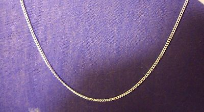 """Beautiful, Sterling Silver 1.5 mm Curb Chain Necklace + GIFT BAG 26""""  long."""