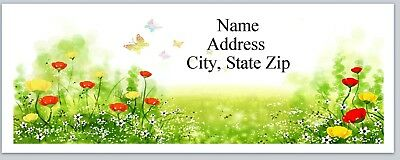 Personalized Address Labels Pretty Flowers Butterflies Buy 3 get 1 free (P 530)