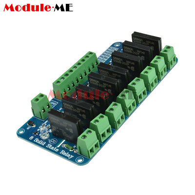 New 250V 2A 8 Channel OMRON SSR Solid State Relay Module For Arduino G3MB-202P