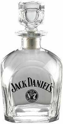 Jack Daniel's Licensed Barware Bug Swing Logo Square Decanter, Made in Italy