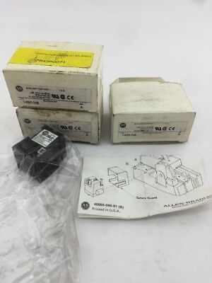 Allen-Bradley 1495-N8 Series A Auxiliary Contact // Lot of 3 NIB
