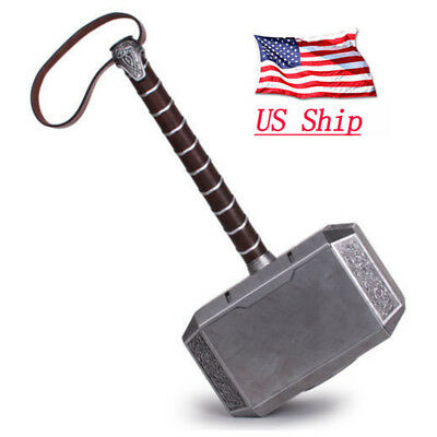 USA Full Metal CATTOYS 1:1 The Avengers Thor Hammer Replica Props Mjolnir Gifts