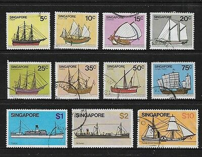 SINGAPORE - 1980 Ships, Boats, No.2, 11 of 13, used