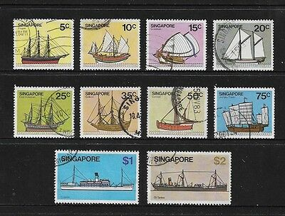 SINGAPORE - 1980 Ships, Boats, No.8, 10 of 13, used