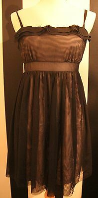 Black dress with pink underskirt size 12 New with tag Ladies/Teen Party