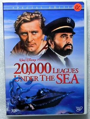 Authentic Disney 20, 000 Leagues Under Sea Widescreen 1954 2-DVD Kirk Douglas