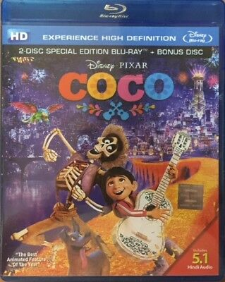 Coco Blu-Ray - 2017 Hollywood Animation Movie Bluray 2 Disc Special Edition
