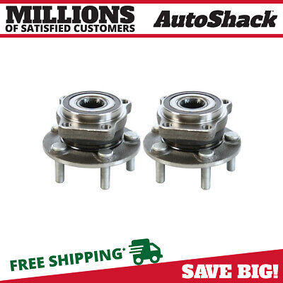 Front Pair (2) Wheel Hub Bearing Assembly Fits 09-16 Subaru Forester HB613305PR