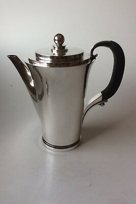 Georg Jensen Pyramid Sterling Silver Coffee Pot No 600C