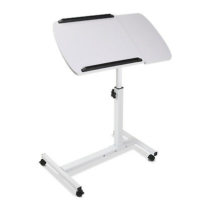 Portable Laptop Desk Stand Adjustable Notebook Computer Table Tray Bed White@AA