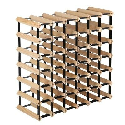 42 Bottle Timber Wine Rack Wooden Storage Cellar Vintry Organiser Stand @AA