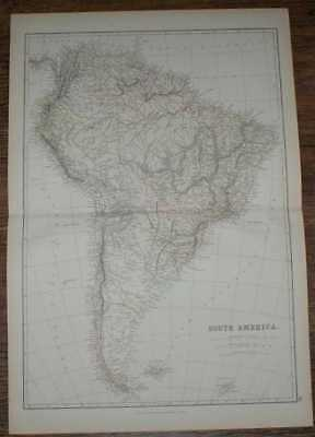 1884 Blackie's Map of South America