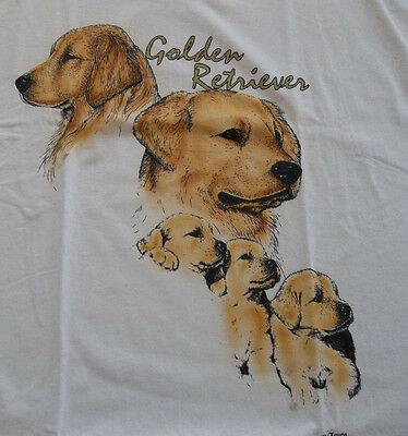 "Golden Retriever T-shirt  "" White ""  2XL ( 50 - 52 )"