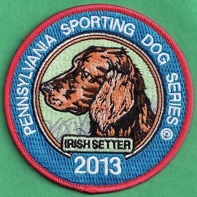 Pa Fish Game Commission NEW Pennsylvavnia Sporting Dogs 2013 Irish Setter Patch