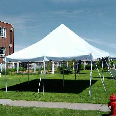 20 x 20u0027 Commercial Pole Tent Heavy Duty Vinyl Wedding Party Canopy White & 20X20u0027 COMPLETE Pole tent Commercial Heavy duty Party George ...