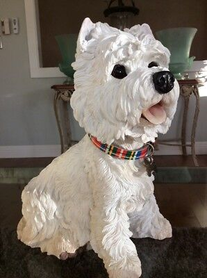 "Beautiful Rare Country Artist Barkers ""Westie"" Large 12"" Lifelike Dog Sculpture"