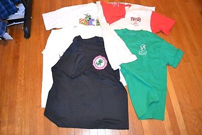 Lot of 5 Vintage T-Shirts Single Stitch Made in USA XL 80s 90s Screen Stars