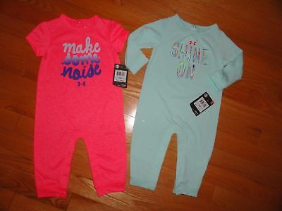 bf082a32678 UNDER ARMOUR BABY Girls Romper Tropical Tide Pink Shorts Tank Outfit ...