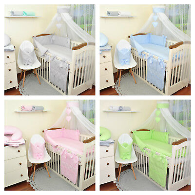 Baby bedding sets 2,3,6 or 11 pcs for cotbed 140x70 or cot 120x60 pink, blue