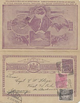New Zealand: Ganzsache 1900 to Germany