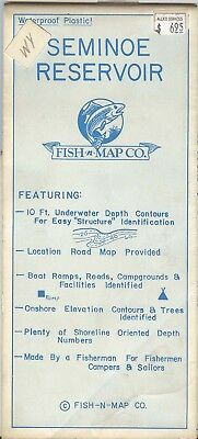 Fish-n-Map Co. SEMINOLE RESERVOIR Wyoming