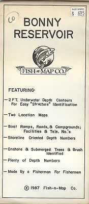 Fish-n-Map Co. BONNY RESERVOIR  Colorado c.198