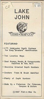 Fish-n-Map Co. LAKE JOHN Colorado c.1987