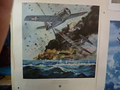 The Battle of the Coral Sea PRINT. 1990 Spofford House