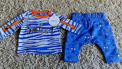 Mothercare Smile By Julien Macdonald Baby Boys New Pyjama Set Age Up To 3 Months