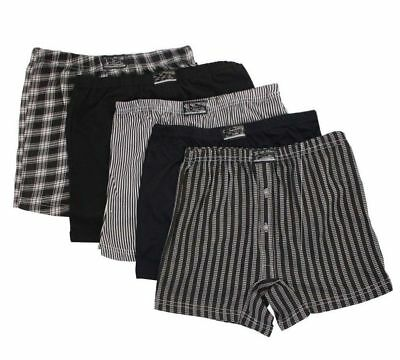 Mens Printed Cotton Check Jersey Boxer Shorts in Big Sizes Small to 6XL