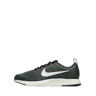 Nike Dualtone Racer Junior Youth Unisex Mesh Trainers Shoes in River Rock Green