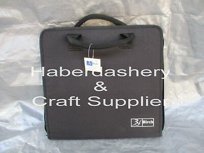 Birch Storage Bag 4 Interior Mesh Pockets *Scrapbooking Black