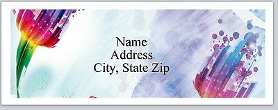 30 Personalized Address Labels Watercolor Flowers Buy 3 Get 1 free (P 311)