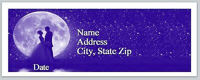 30 Personalized Address Labels Wedding Couple  Full Moon Buy3 Get1 free (P 290)