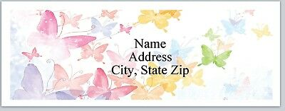 30 Personalized Address Labels Butterflies background Buy 3 Get 1 free (P 308)