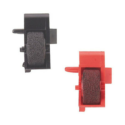 Canon P-100DH P-100DH II Calculator Ink Rollers Compatible One Black & One Red