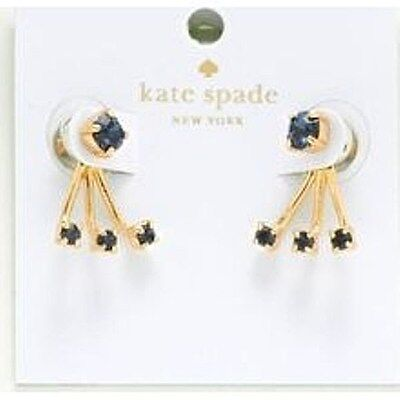 7a9db77a079c6 KATE SPADE DAINTY Sparklers Ear Jacket Studs Earrings Gold Clear Nwt ...