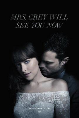 FIFTY SHADES FREED MOVIE POSTER DS ORIGINAL Advance Ver B 27x40 DAKOTA JOHNSON