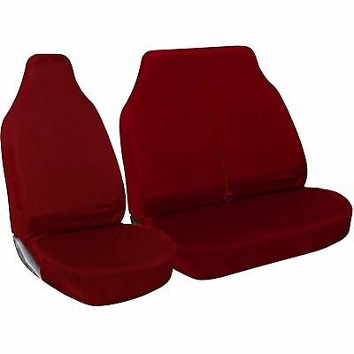 2-1 Full Red Van Seat Covers Rubber Lined For Volkswagen Vw Lt35