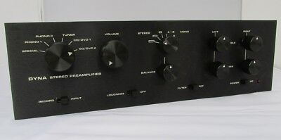 Custom Anodized Black Faceplates For Dynaco Stereo Pas Tube Preamplifier
