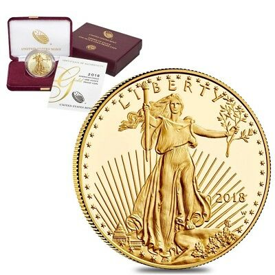 2018-W 1 oz $50 Proof Gold American Eagle (w/Box & COA)